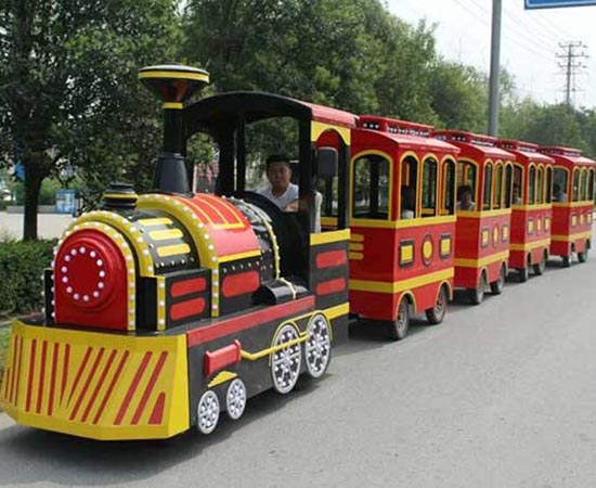 Fiber Glass Trackless Train for Sale