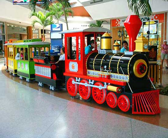 Train in the shopping mall